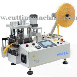 Automatic Webbing Cutting Machine with Hole Punching and Stacker