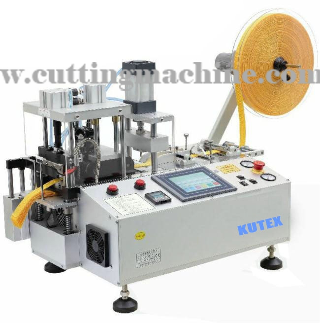 Automatic Tape Cutting Machine Hot and Cold Knife with Punching Hole and Collecting Device